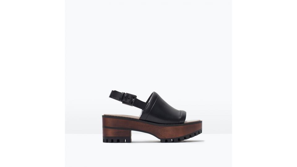 сандалии Zara, 3999 руб. (фото с сайта zara.com)