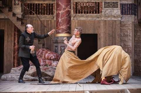 Кадр из постановки «Буря», Шекспировского театра «Глобус», theatrehd.ru