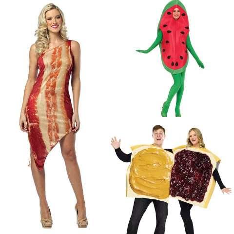 Забавные хэллоуинские костюмы в виде еды