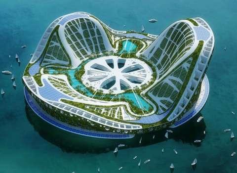 В Голландии представили модель города на воде
