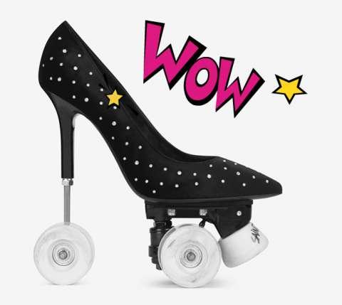 Модная новинка: ролики на каблуках