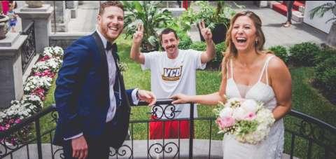 Адам Сэндлер заявился свадьбу своих фанатов