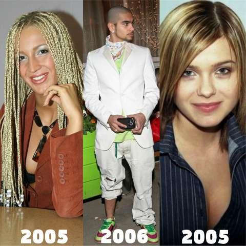 Как менялся стиль звёзд?