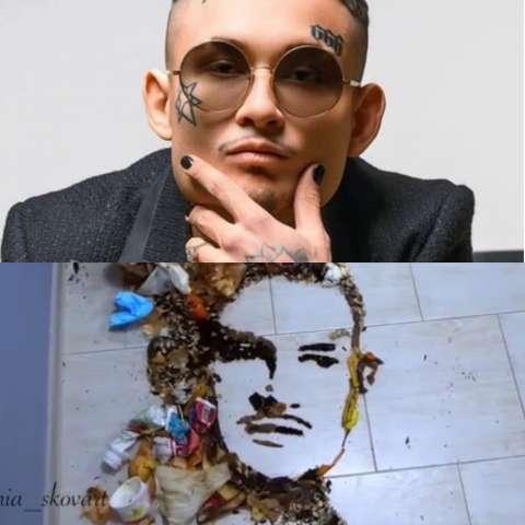 Моргенштерну посвятили портрет из мусора