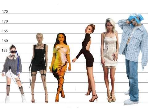 Какой рост у звёздных девчонок?